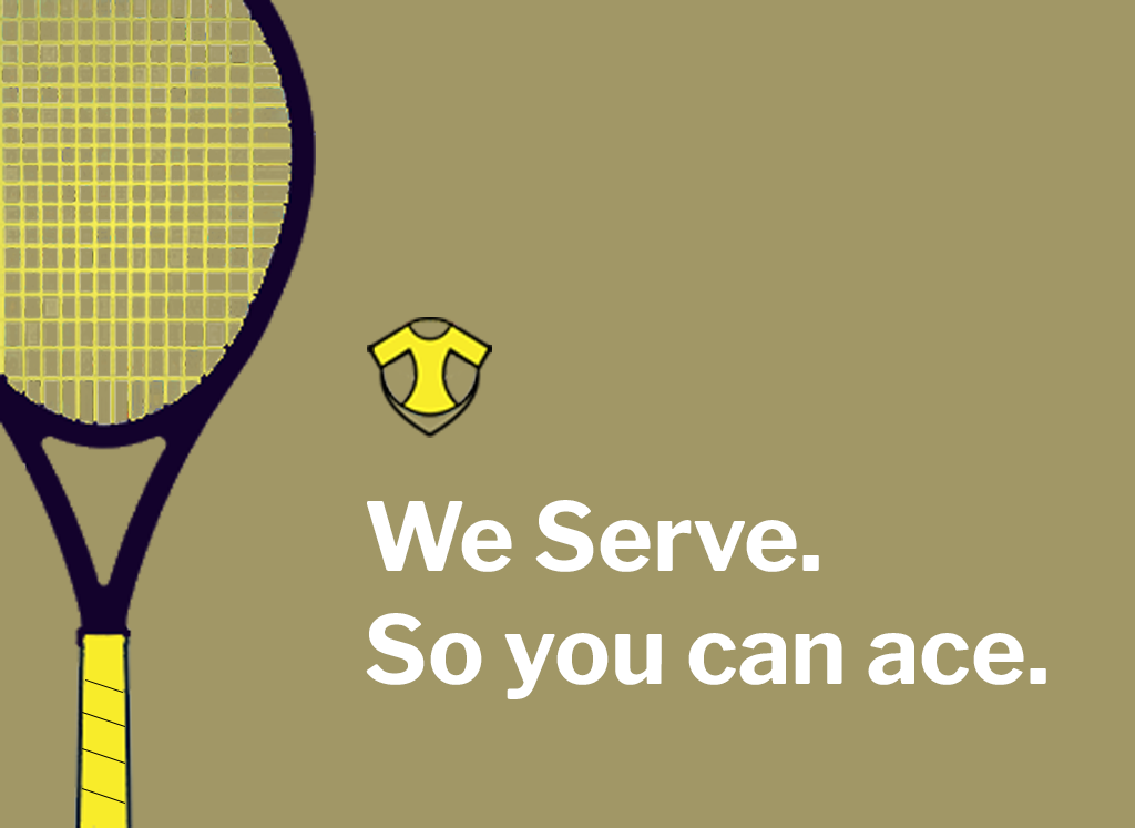 My tennis outfitter we serve you.